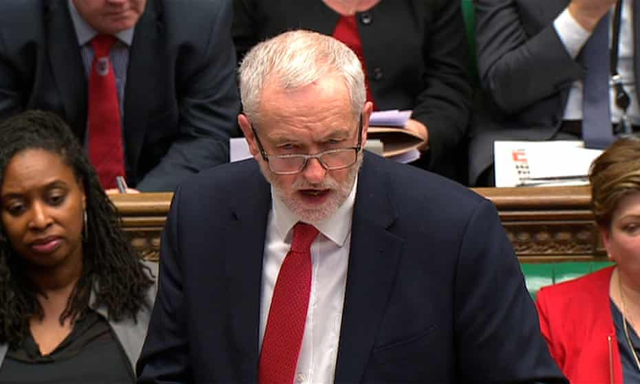 Jeremy Corbyn's comments brought shouts of 'shame' from Tories in the Commons.
