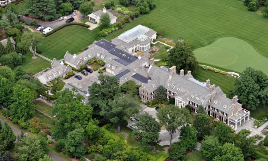 The estate belonging to billionaire hedge fund owner Stephen Cohen, located in Greenwich.