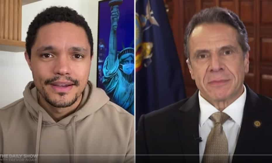 """New York Gov. Andrew Cuomo to Trevor Noah on Trump: """"Who cares about how I feel about him personally? My feelings are irrelevant, my emotions are irrelevant. Just do the job."""""""