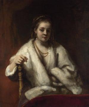 Portrait of Hendrickje Stoffels by Rembrandt.