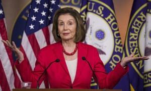 Nancy Pelosi on Capitol Hill in Washington DC, on 27 June.