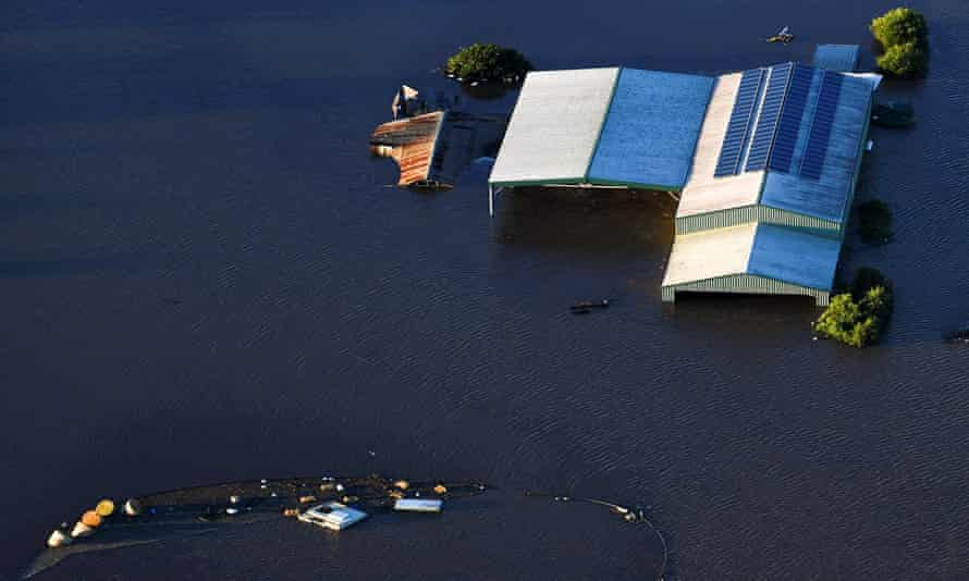 Flood damage in the Windsor area along the Hawkesbury River during severe floods in NSW in March 20201.