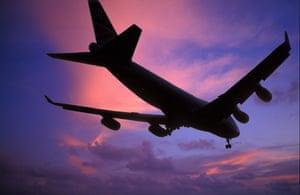 A 747 lands at Heathrow.