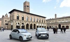 Fiat cars in Bologna, Italy