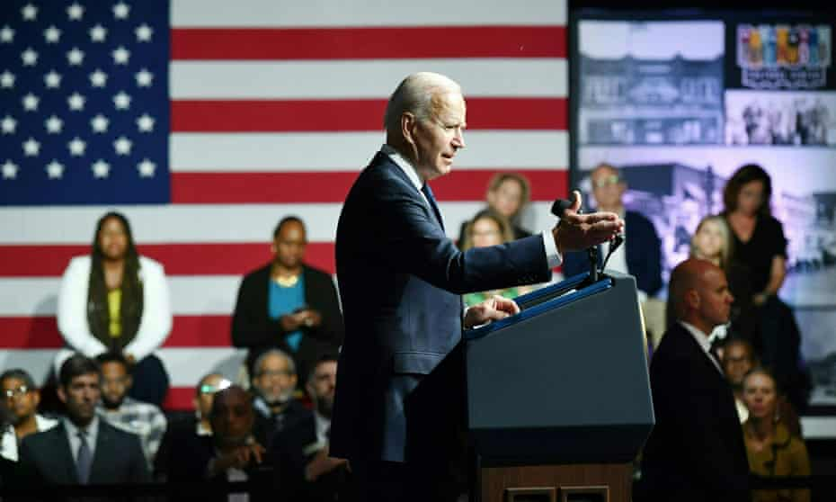 Biden speaks at the Greenwood Cultural Center.
