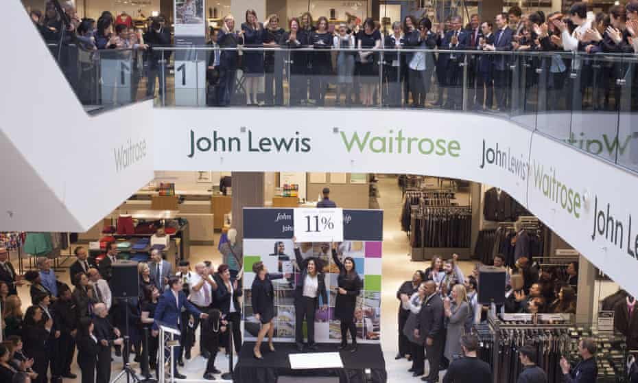 The annual bonus is announced at John Lewis in 2015, when the retail environment was more forgiving than it is now.