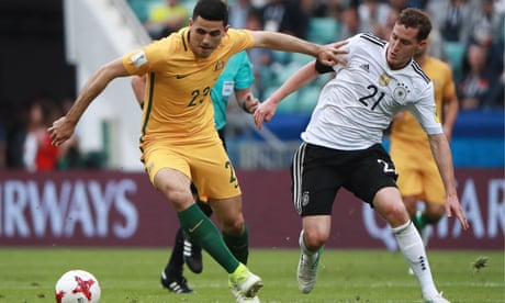 Socceroos face uphill task after being edged out by Germany