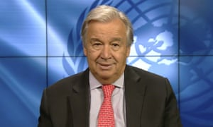 Antonio Guterres said the virus was the world's 'number one global security threat'.