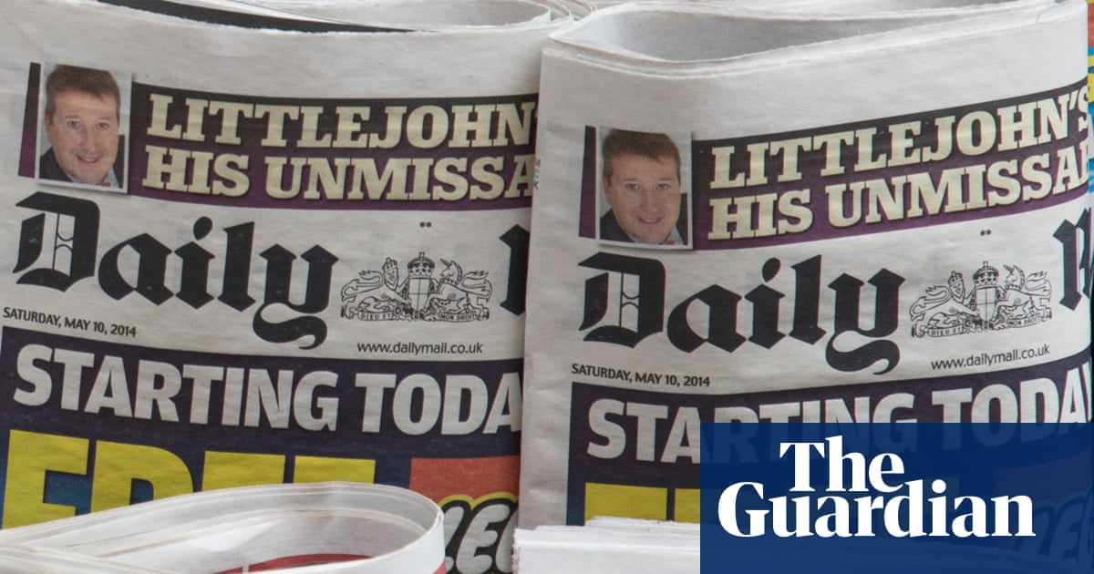 Daily Mail owners print advertising revenues plunge by 70%