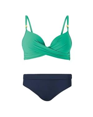 Green top £25, blue bottoms £14, marksandspencer.com