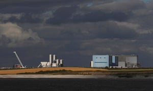 Hinkley Point A and B nuclear power stations.