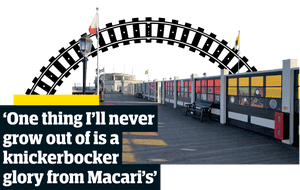 'One thing I'll never grow out of is a knickerbocker glory from Macari's'  WorthingPier