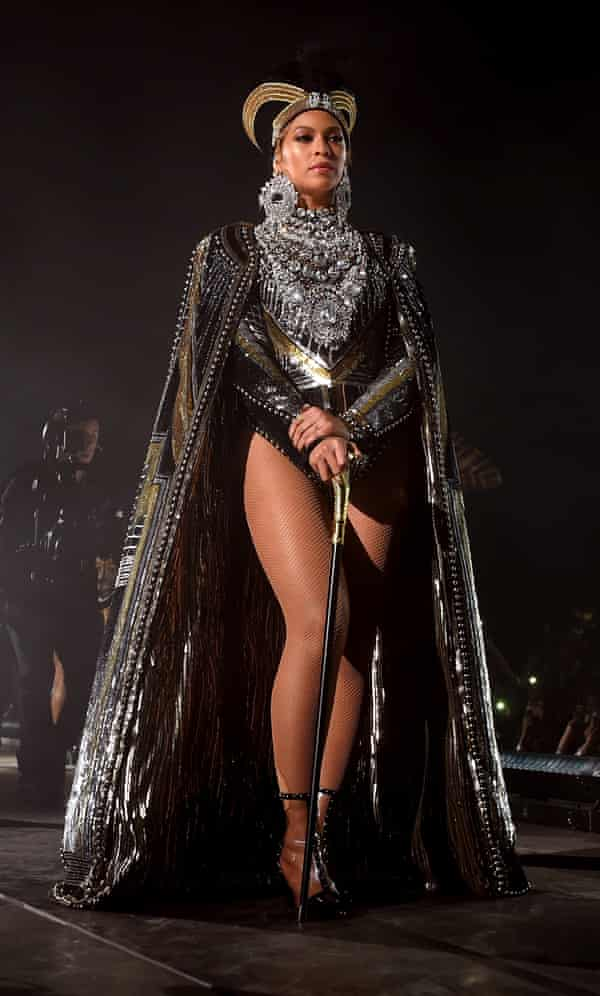 'A modern-day Cleopatra' ... One of Beyoncé's many Coachella costumes.