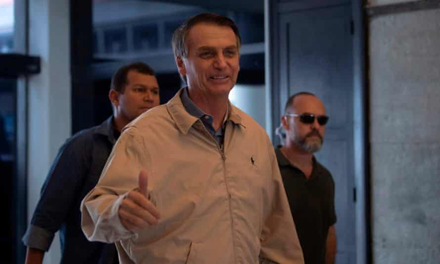 Jair Bolsonaro: 'I can't control it if an entrepreneur who is friendly to me is doing this. I know it's against the law. But I can't control it.'