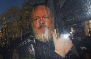 Wikileaks co-founder Julian Assange arrives at Westminster magistrates court.