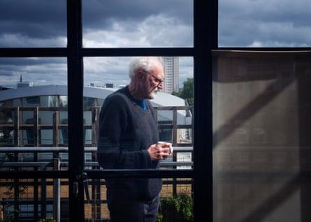 Professor John Sutherland at his London flat.