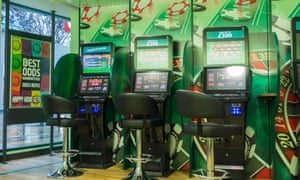 Gaming machines in a Paddy Power shop