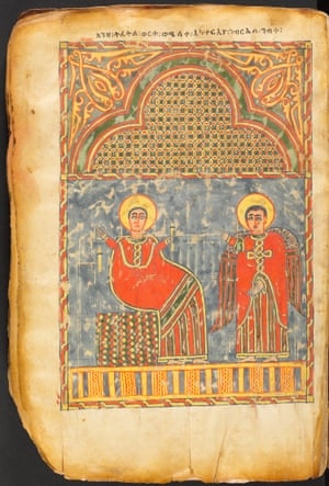 A gospel book from Ethiopia, Amhara region, late 14th–early 15th century. Tempera and ink on parchment.