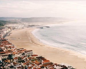 Beach at Nazaré, on the Costa de Prata, Portugal
