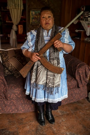 Lilia Crisostomo Maldonado, one of the 'women defenders of the water' of the Mazahua. The Cutzamala valley where the Mazahua live is one of the main sources of water for Mexico City.