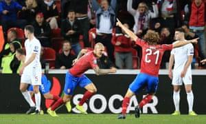 Zdenek Ondrasek of Czech Republic celebrates.