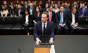 Facebook CEO Mark Zuckerburg in Capitol Hill
