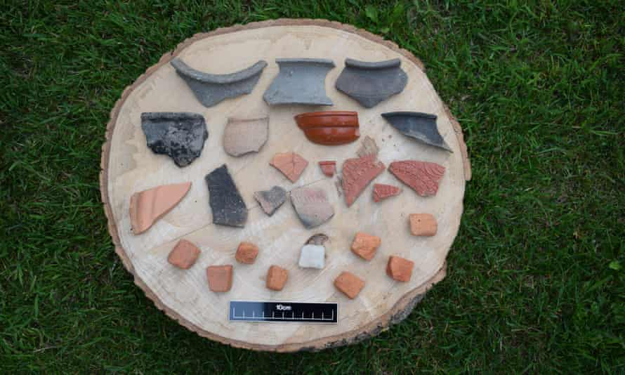 Hundreds of Roman pottery sherds have been found at the site