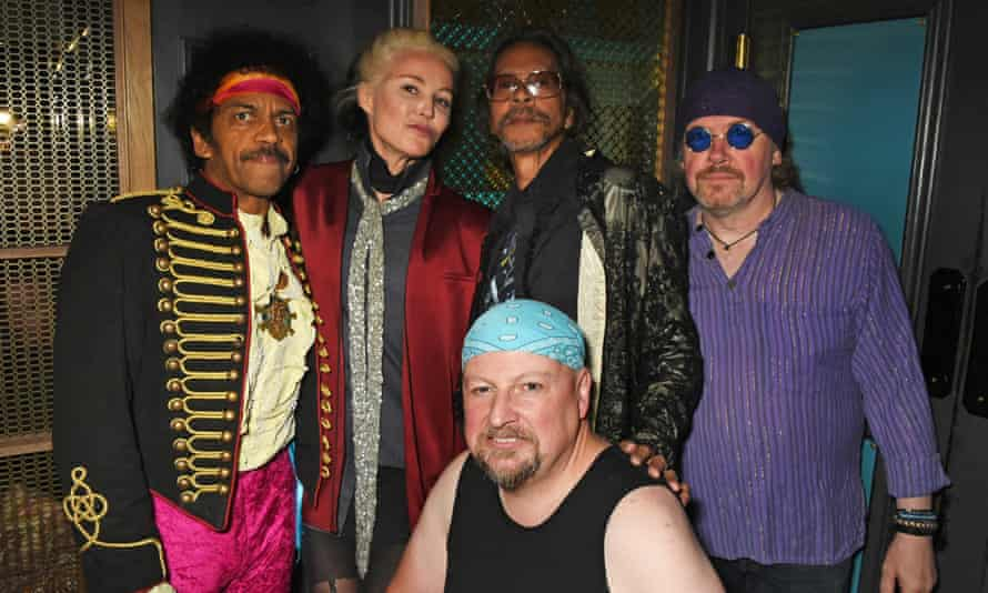 Left to right, John Campbell, Daphne Guinness, Leon Hendrix, Mark Arnold and Kevin O'Grady at the Scotch of St James.