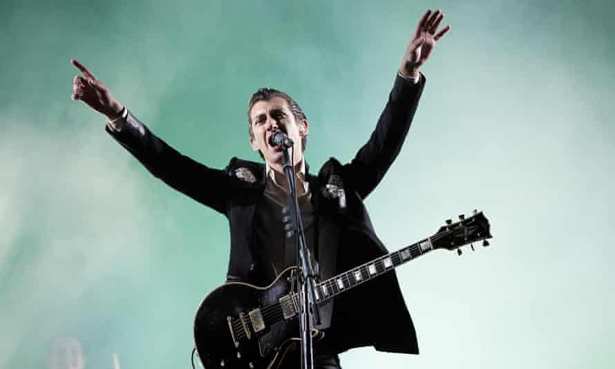 Alex Turner of Arctic Monkeys at Leeds festival in 2014