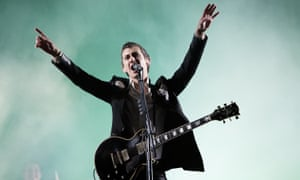 Alex Turner of Arctic Monkeys at Leeds festival 2014.