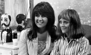 Nerys Hughes, left, and Polly James in Lane's first big hit, The Liver Birds, 1973