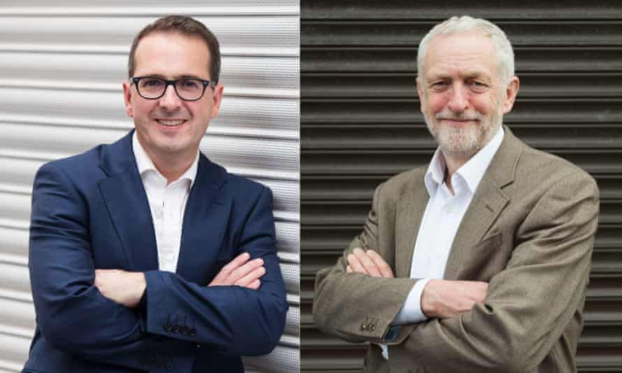Jeremy Corbyn and his challenger for the Labour leadesrship, Owen Smith