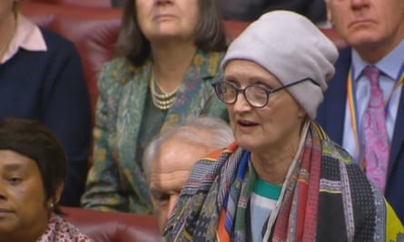 Dame Tessa Jowell speaking in the House of Lords.