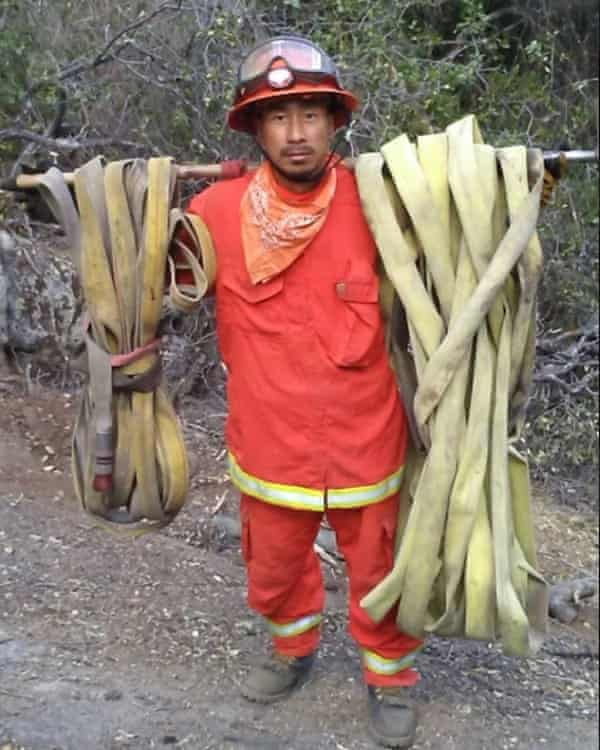 Kao Saelee worked as an incarcerated firefighter in 2018 and 2019.