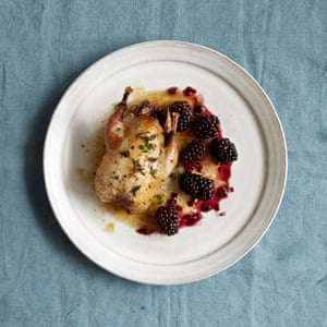 Play the game: Henry Harris' roast partridge and spiced blackberries.