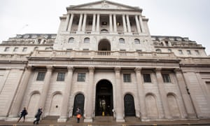 The Bank of England on Threadneedle Street, in the city of London, UK