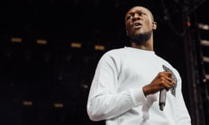 Stormzy performs at V festival, Chelmsford, on 20 August.