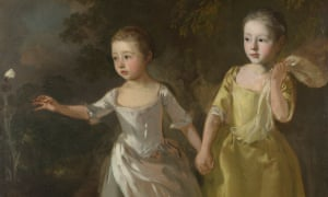 The Painter's Daughters Chasing a Butterfly by Thomas Gainsborough, c.1756