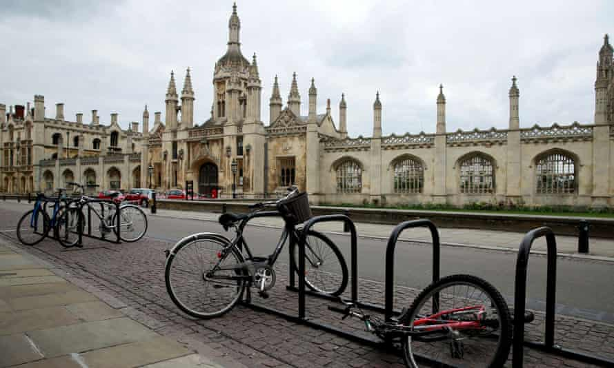 Bikes outside the University in Cambridge, where bicycle theft is the number one reported crime.