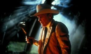 Dennis Hopper in The Texas Chainsaw Massacre 2.