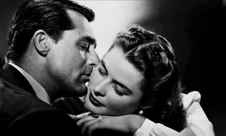 Thriller and sensual romance ... Cary Grant as Devlin and Ingrid Bergman as Alicia in Notorious.