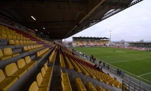 Catalans Dragons' stadium in Perpignan