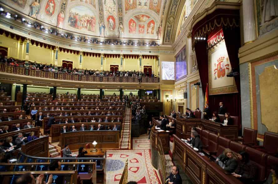 The Spanish parliament.