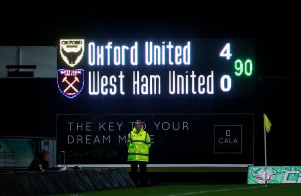 Image result for oxford united vs west ham