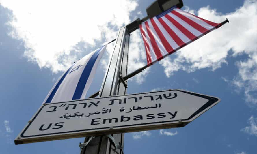Trump announced in December that the embassy would be moving from Tel Aviv to Jerusalem.