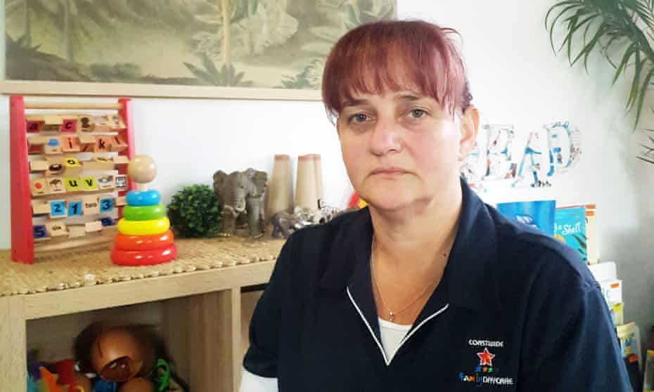 Tina Case, who runs a small family day care service in Woy Woy. Case says the government's childcare support package has actually left her worse off.