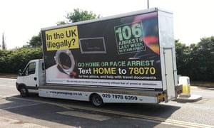 Home Office 'go home' van.