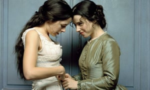 Elaine Cassidy (left) and Sally Hawkins in the 2005 TV adaptation of Sarah Waters' Fingersmith.