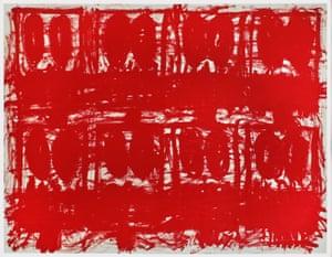 Quarantine blues: Rashid Johnson's Untitled Anxious Red Drawing.