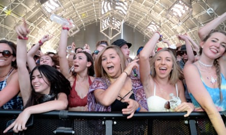 Music fans at Coachella in 2016. Data suggests that white people comprise 69.2% of the festival-going public.
